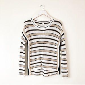 Max Studio Cozy Striped Sweater